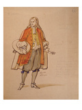 Costume Design for an 1847 Production of &#39;Don Juan&#39; by Moliere (1622-73) at the Comedie Francaise Giclee Print by Achille Deveria