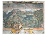 Bedroom, Detail of Frieze Depicting Towns under Medici Rule, Fiesole, 1564-75 (Fresco) Giclee Print by  Nanni di B. Bigio