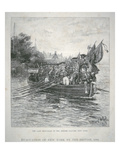 The Last Boat-Load of the British Leaving New York, 1783 (Engraving) Giclee Print by Howard Pyle
