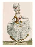 Ladies Style Evening Dress, Engraved by Voysard, Plate No.64 Giclee Print by Claude Louis Desrais
