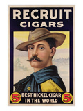 Poster Advertising Recruit Cigars, C.1899 (Colour Litho) Giclee Print by  American