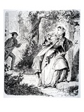 Illustration from 'Little Fadette' by George Sand, 1833 (Engraving) Giclee Print by Tony Johannot