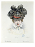Fashion Plate from 'La Modiste Universelle', February 1898 (Colour Litho) Giclee Print by  French