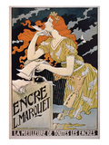 Poster Advertising &#39;L. Marquet Ink, the Best of All Inks&#39;, 1892 (Colour Litho) Giclee Print by Franz Grassel