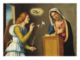 Annunciation to the Virgin, 1500/05 (Paint on Wood Panel) Giclee Print by Giovanni Battista Cima Da Conegliano