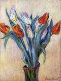 Tulips, 1885 (Oil on Canvas) Giclee Print by Claude Monet