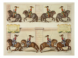 The Marquis of Newcastle on Horseback Demonstrating Dressage Steps Giclee Print by Abraham Jansz. Van Diepenbeke