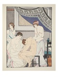 Chiropractic Adjustment, Illustration from 'The Works of Hippocrates', 1934 (Colour Litho) Giclee Print by Joseph Kuhn-Regnier