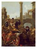 Carnival Time in Rome, 1653 Giclee Print by Jan van Bike Miel