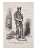 The Able-Bodied Pauper Street-Sweeper, from the Daguerreotype by Richard Beard Giclee Print by  English