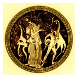 Dionysos and Satyrs, Illustration from 'Greek Vase Paintings' Giclee Print by  English