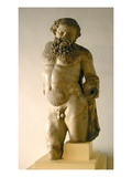 Silenus, Drunk, Copy of a Greek Original (Marble) Giclee Print by  Roman