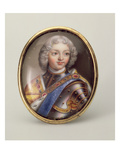 Portrait of Peter Ii, C.1727 (Enamel on Copper) Giclee Print by Andrei Grigorievich Ovsov