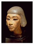 Head of a Harpist, from Tell El-Amarna, C.1370-1360 BC (Wood) Giclee Print by  Egyptian 18th Dynasty