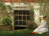 Winslow Homer - The Four Leaf Clover, 1873 - Giclee Baskı