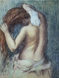 Femme a Sa Toilette, C.1895 (Pastel on Paper) Giclee Print by Edgar Degas