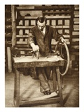 Locksmith Winding Wire into Springs, from 'Wonderful London', Published 1926-27 (Photogravure) Giclee Print by  English Photographer