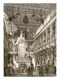 Interior of the Parthenon, Restored (Litho) Giclee Print by  English