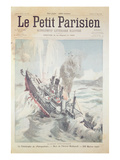 The Sinking of the Russian Flagship 'Petropavlovsk' on 13 April, 1904 Giclee Print by  French