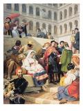 Raphael in the Vatican, 1832 Giclée-Druck von Emile Jean Horace Vernet