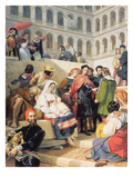 Raphael in the Vatican, 1832 (Oil on Canvas) Giclee Print by Emile Jean Horace Vernet