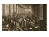 Workers in the Blacksmith&#39;s Shop at Beckton Gas Works, from &#39;Wonderful London&#39;, Published 1926-27 Giclee Print by  English Photographer