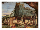 Sacre Conversazione, Detail of the Town and Castle in the Background (Panel) (Detail of 84002) Gicle-tryk af Vittore Carpaccio