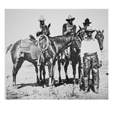 Black Cowboys at Bonham, Texas, C.1890 (B/W Photo) Giclee Print by  American Photographer