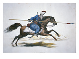Russian Don Cossack, C.1820 (W/C on Paper) Giclee Print by T. Kelly