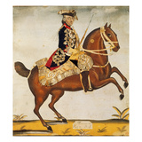 Frederic Ii the Great (1712-1786) King of Prussia (Watercolour and Gold Leaf) Giclee Print by  German