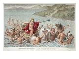 Neptune Calming the Waves, Book I, Illustration from Ovid's Metamorphoses, Florence, 1832 Impression giclée par Luigi Ademollo