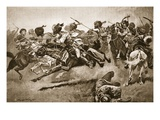 On the Expedition to Pao-Ting-Fu: a Charge of the Bengal Lancers Giclee Print by Stanley L. Wood