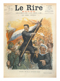 Caricature of Alexander Kerensky (1881-1970), Cover of the French Magazine &#39;Le Rire&#39; 30th June 1917 Giclee Print by Charles Leandre