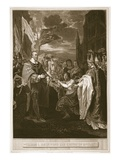William I Receiving the Crown of England, Engraved by George Noble Giclee Print by Benjamin West