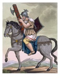 A Military Lictor of the Cavalry, Bearer of the Fasces, Illustration from &#39;L&#39;Antique Rome&#39; Giclee Print by Jacques Grasset de Saint-Sauveur