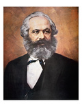 Karl Marx (Colour Litho) Giclee Print by  Russian