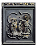 The Baptism of Christ, Fifth Panel of the North Doors of the Baptistery of San Giovanni, 1403-24 Giclée-tryk af Lorenzo Ghiberti