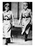 Heinrich Himmler with Ss-Gruppenfuehrer Reinhard Heydrich, 1930S (B/W Photo) Giclee Print by  German photographer