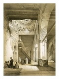 Interior of the Maqsourah in the 9th Century Mosque of Ahmed Ibn-Touloun, Cairo (Litho) Giclée-tryk af Philibert Joseph Girault de Prangey