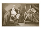 Doomsday Book Presented to William the I, Engraved by J. Fittler Giclee Print by Henry Tresham