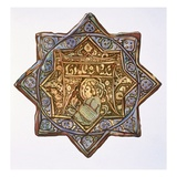 Persian Lustred Wall-Tile: Circle and Star Shape, 19th Century (Colour Litho) Giclee Print by Henry Wallis