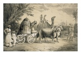 Harem Carriage of the King of Delhi, from 'Voyages in India', Pub. by Smith, Elder and Co., 1858 Giclee Print by A. Soltykoff