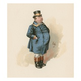 The Fat Boy, Illustration from 'Character Sketches from Charles Dickens', C.1890 (Colour Litho) Giclee Print by Joseph Clayton Clarke