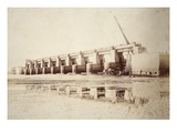 Sluices at Weston, Largest in the World (Sepia Photo) Giclee Print by Thomas Birtles