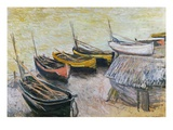 Boats on the Beach, 1883 Giclee Print by Claude Monet