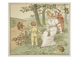 Walking to Mousey&#39;s Hall, Illustration from &#39;A Frog He Would A-Wooing Go&#39; Giclee Print by Randolph Caldecott