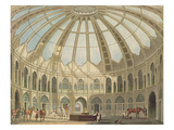 The Interior of the Stables, from 'Views of the Royal Pavilion, Brighton' by John Nash (1752-1835) Giclee Print by  English