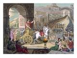 A Roman Triumph, Illustration from 'L'Antique Rome', Engraved by Labrousse, Published 1796 Giclee Print by Jacques Grasset de Saint-Sauveur