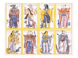 Buddhist Deities, from 'The History and Doctrine of Buddhism' by Edward Upham, 1829 (Colour Litho) Giclee Print by  English
