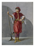 An Albanian Soldier, Plate 78 Reproduction proc&#233;d&#233; gicl&#233;e par Jean Baptiste Vanmour